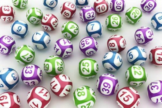 lotto balls on white background